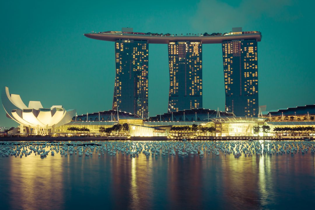 Marina bay sands night pic
