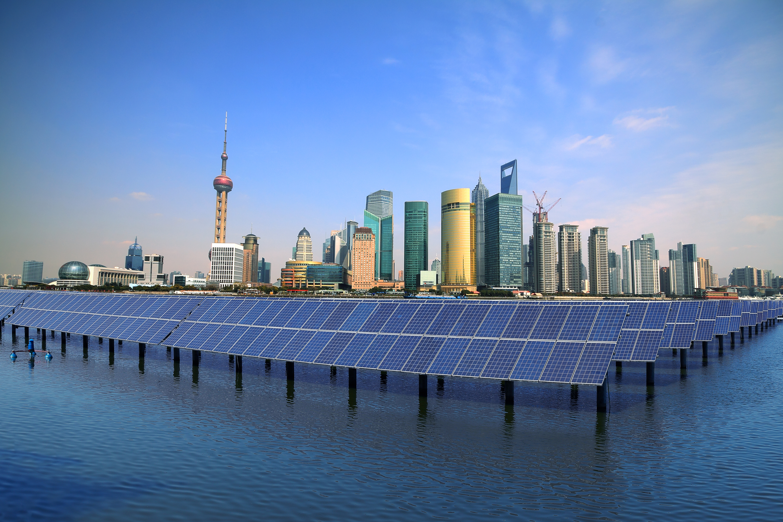 China floating solar panels